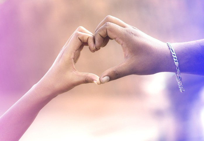People Hands Love Romantic Couples Sign Heart